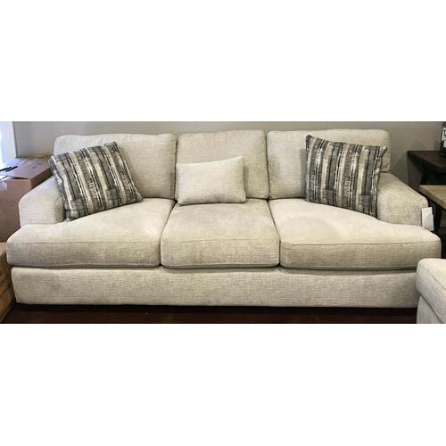 Sand Sofa With Accent Pillows