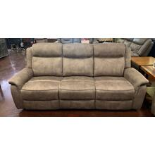 Tan Fabric Reclining Sofa
