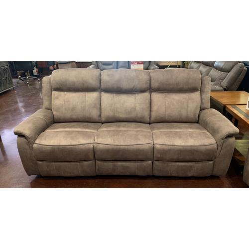 Tan Fabric Reclining Sofa