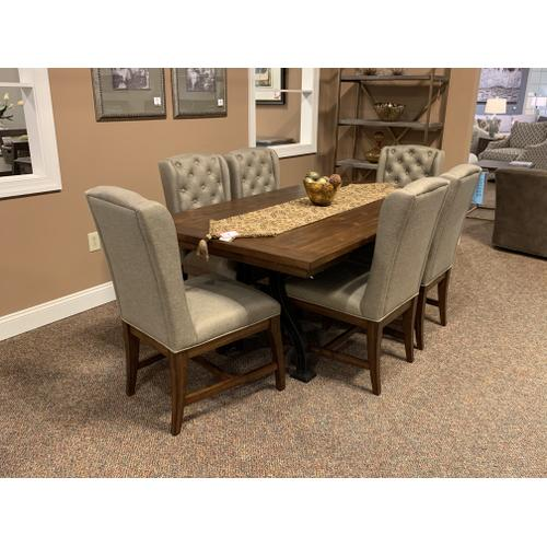 Dining Table with Host Uph. Chairs
