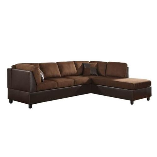 V-dub Furniture - 2 Piece Sectional Brown