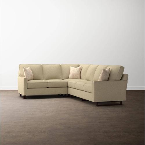 Premier Collection - Custom Upholstery Deep L-Shaped Sectional