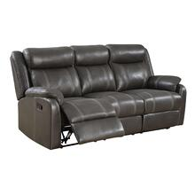 Domino Reclining Sofa with Table Valor Carbon