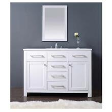 """AAMS-4801 48"""" Milan Style Vanity Cabinet with Single Sink and White Marble Top List Price: $2,520.00 for entire set"""