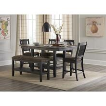 LIFESTYLE C8639P-PTX, C8639P-P2EF9XBWX, C8639P-PNHF9XBWX-6P Tortilla Burnt Oak Mill 6-Piece Dinette - Table, Bench And 4 Chairs