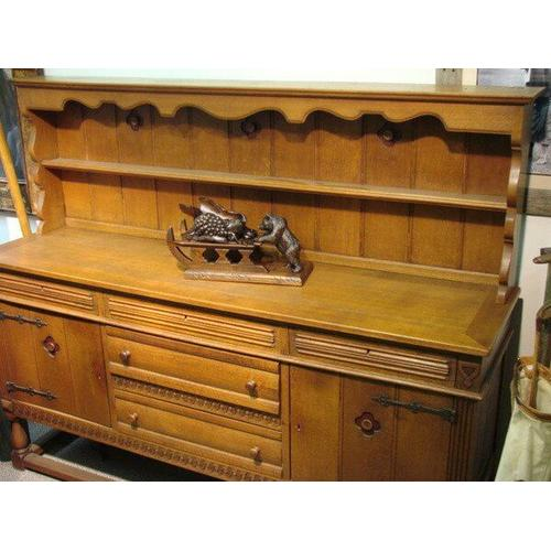 All Resort Furnishings - Antique Buffet with Plate Rack