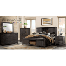 SCOTT 5PC BEDROOM SET - QUEEN STORAGE BED, DRESSER, MIRROR, CHEST, N. STAND    (SC-300)