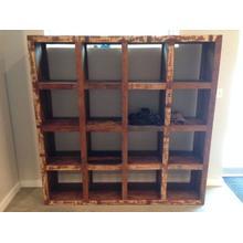 See Details - 16 cube bookshelf- teak wood