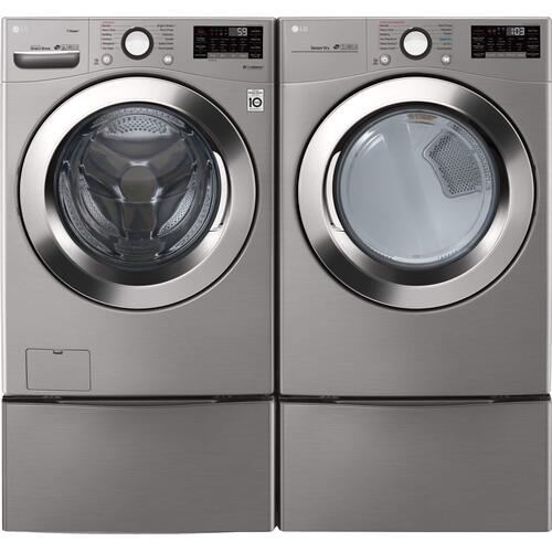 LG 3700 Smart 4.5 cu. ft. Washer and 7.4 cu. ft. Steam Dryer Package
