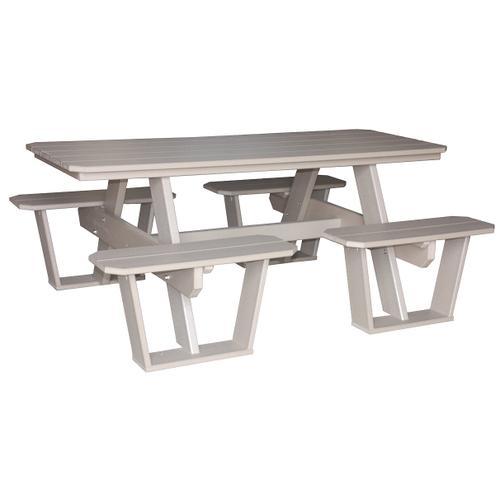 6' Split Seat Picnic Table