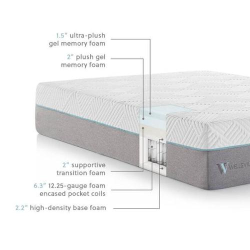 "WELLSVILLE 14"" GEL HYBRID MATTRESS"