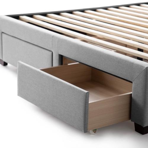 Malouf - Malouf Watson Platform Bed Base- Stone