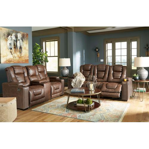 Owner's Box Power Reclining Console Loveseat
