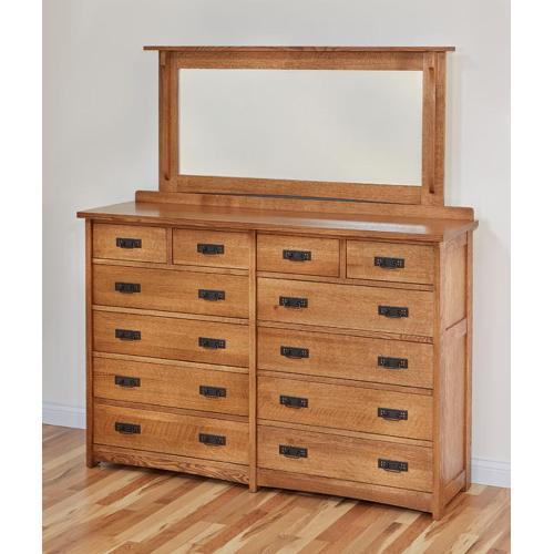 American Craftsman CBR Dresser & Mirror Color #38