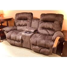 SEGER POWER ROCKING CONSOLE LOVESEAT in CHOCOLATE     (L720RQ7,21816)