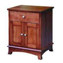 Crescent 1-Door 2-Drawer Nightstand