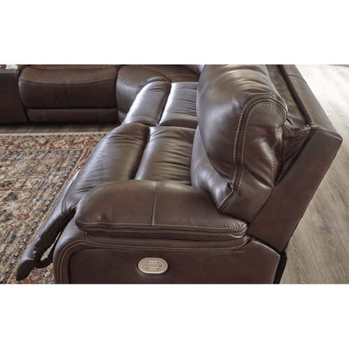 Muirfield - Mahogany - 3 Power Recliner with Right Facing Console