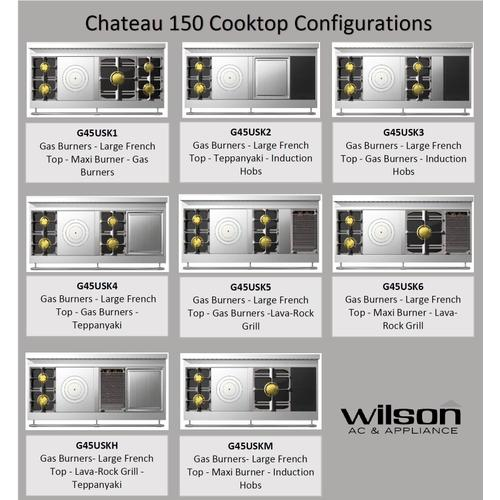 Chateau 150 (K5) - 2-Gas Burners - 1 French Plaque  - 2-Gas Burners - 1 Lava-Rock Grill