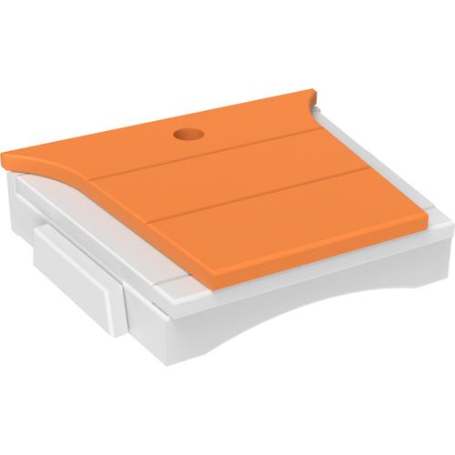 Balcony Tete-a-Tete Table Tangerine and White