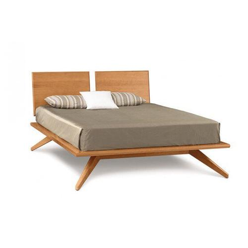ASTRID BED WITH 2 ADJUSTABLE HEADBOARD PANELS IN CHERRY