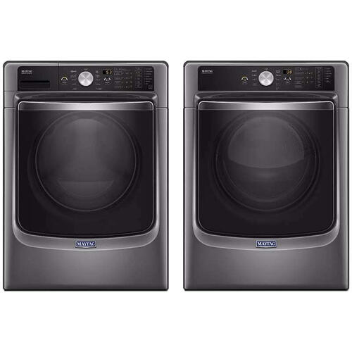 Maytag Front Load Laundry Package With Gas Dryer In Metallic Slate
