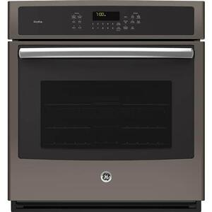 "GE 4.3CF Slate 27"" Single Convection Wall Oven with Steam/Self Clean"