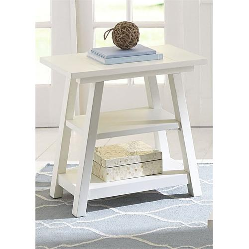 White Chairside Table