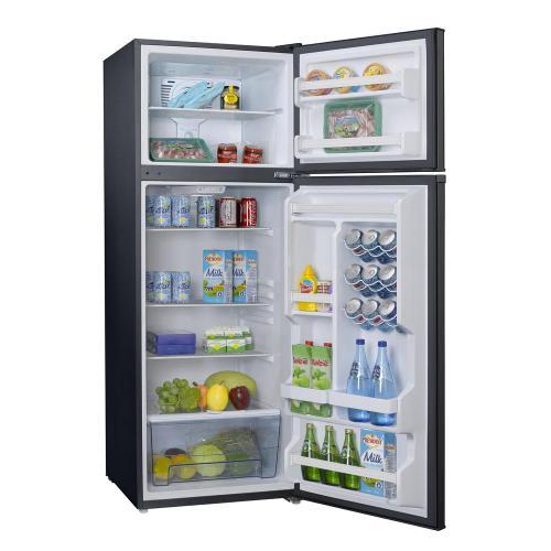 Galanz 12-Cu. Ft. Top Mount Retro-Style Refrigerator in Black