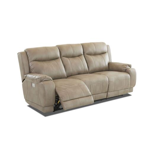 Power Double Reclining Sofa with separate articulating headrest control!