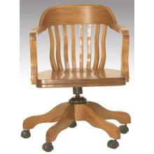 English Oak Office Arm Chair