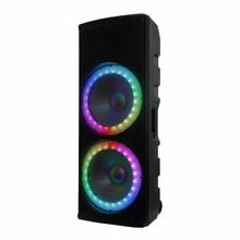 """View Product - Edison Professional Bluetooth Speaker; LED Lights; 6500 Watts; Built-in Handles and Wheels; 40 oz. Magnet; 2- 15"""" Woofers; Multiple Units can be paired with True Wireless Technology"""