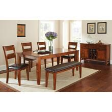 Mango Dining Table w/ 4 Chairs and Bench