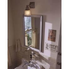 Robern PLW1630BCS Classic Silver Framed Mirror door