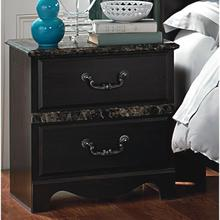 See Details - CAPPUCCINO MARBLE NIGHTSTAND