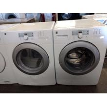 Refurbished Kenmore Connect White Front Load Washer Dryer Set. Please call store if you would like additional pictures. This set carries our 6 month warranty, MANUFACTURER WARRANTY AND REBATES ARE NOT VALID (Sold only as a set)