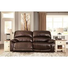Ashley 2-Seat Reclining Power Sofa w/Adjustable Headrest Hallstrung Chocolate