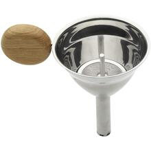 Legnoart Stainless Steel Pedro Wine Funnel with Filter and Oak Wood Handle
