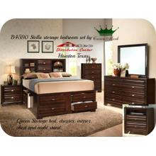 Crown Mark B4590 Stella Bookcase Bedroom Set Houston Texas USA Aztec Furniture