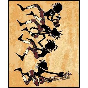 American Cover Design - Medium - Adventures Tribal Dance 5x8 Rug