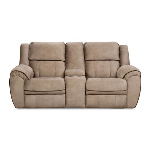UNITED 50436-53-63-19RG Osborne Tan Reclining Sofa, Console Reclining Loveseat & Rocker Recliner Group