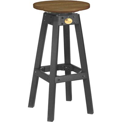 Bar Stool Premium Antique Mahogany and Black