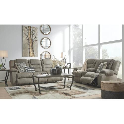Ashley 101 Segburg Cobblestone Reclining Sofa and Love