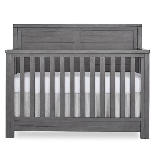 Evolur Belmar Flat 5 in 1 Convertable Crib- Rustic Grey