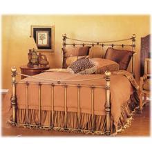 View Product - Wesley Allen Queen Size Quati Bed in Brass Bisque floor sample as is