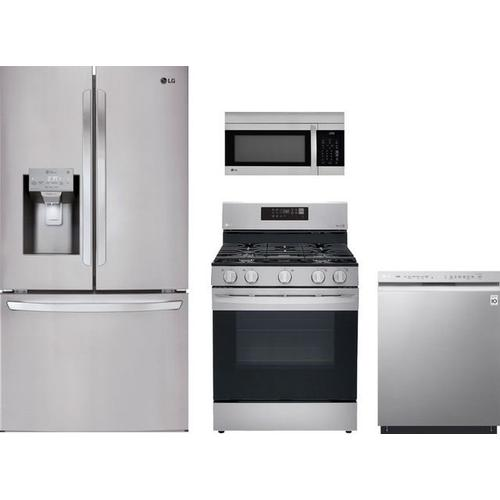 LG Kitchen w/ 26 cu. ft. French Door Smart Wi-Fi Enabled Refrigerator in Stainless Steel