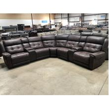 See Details - Highlander Sectional with three Power Recliners with Power Headrest