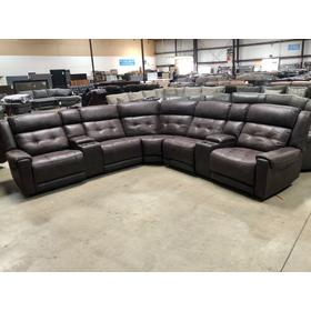 Highlander Sectional with three Power Recliners with Power Headrest