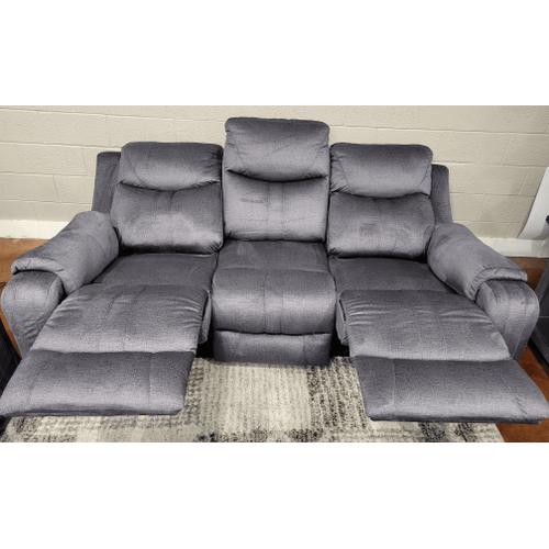 Southern Motion - Power Headrest Sofa- Bahari Charcoal