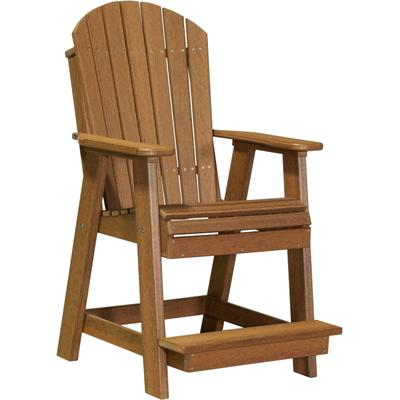 Adirondack Balcony Chair Premium Antique Mahogany