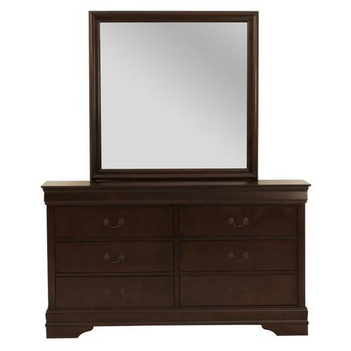 Crown Mark - Louis Philip Cherry 6-Drawer Dresser